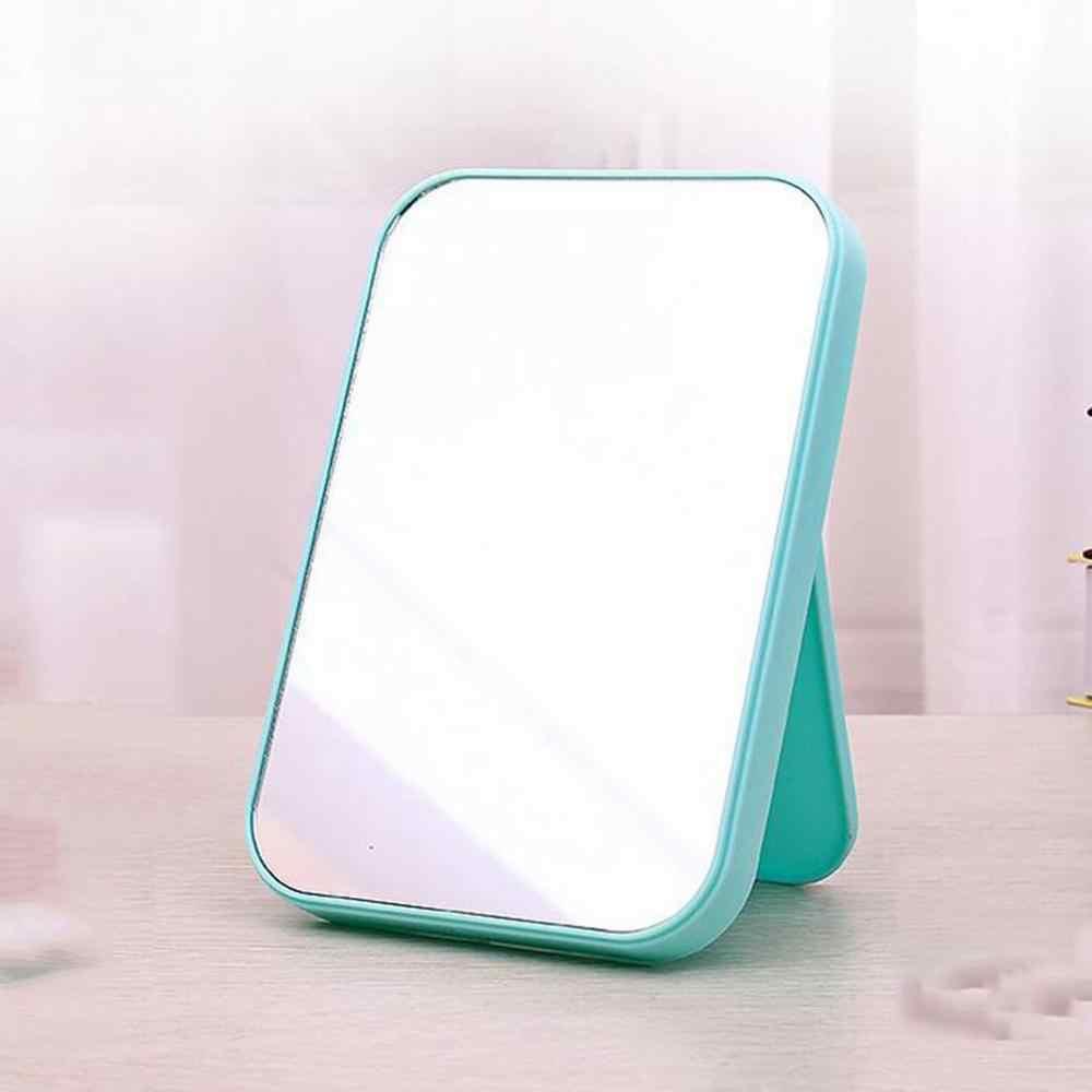 1PC Rumah Desktop Toilet Cermin Rias Portabel Lipat Cermin Minimalis Persegi Panjang Makeup Cermin 5 Warna
