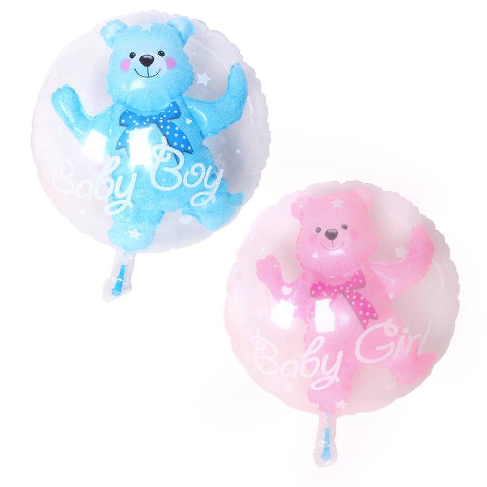 59 * 69cm Large Bubble Bear Aluminum Foil Helium Balloons Toys Boy Girl Wedding Decoration Birthday Baby Shower Theme Party Toys 3