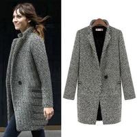 Women Winter Coat 2019 Autumn Fashion Sexy New ladies Cardigan Plus sizePlus Velvet Plus Cotton cashmere Woolen Retro Jacket