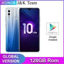 Honra 10 lite 128gb versão global smartphone 24mp câmera telefone móvel 6.21 polegada 2340*1080 pix exibição de impressão digital