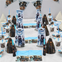 Pirates Of The Caribbean Theme PARTY Disposable Tableware PARTY อุปกรณ์ตกแต่งของขวัญถุงการ์ดอวยพ(China)