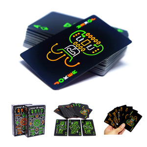 Fluorescent Playing Cards Black Night Playing Cards Night Game Props Glowing Special Poker Team Game For Outdoor Bar KTV Tool(China)