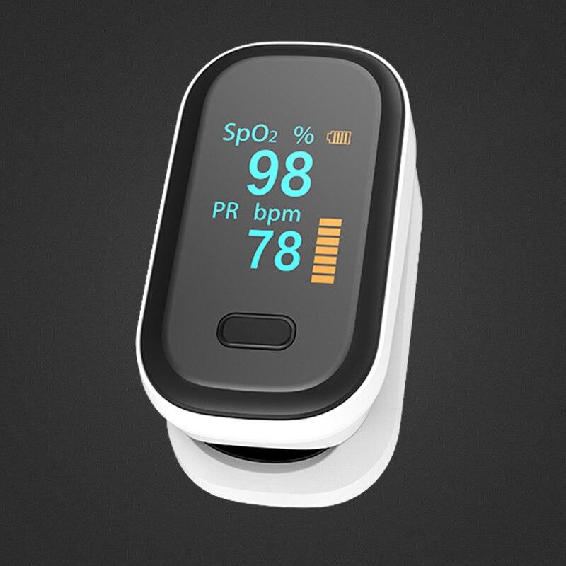 BOXYM Médica Portátil Dedo Oxímetro de pulso Heart Rate Medidor de Saturação de oxigênio no sangue Monitor de OLED Oxímetro de dedo Saturometro