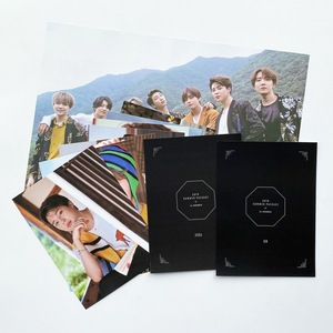8 Pcs / Set Kpop Bangtan Boys Summer Photo Cards Poster JK V SUGA RM JIMIN JIN JHOPE Fan Support Gifts Foldable Decoration Room