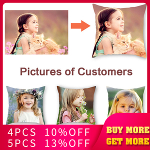 Fuwatacchi Customization Picture Printed Cushion Cover Pet Personal Life Photos Pillow Cover Customize Gift Pillow Case 2019 New(China)