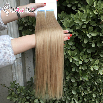 цена на HiArt 3g Tape Hair Extensions In Human Remy Hair Salon Double Drawn Hair Tape Extension Adhesive Straight Hair Factory 182022
