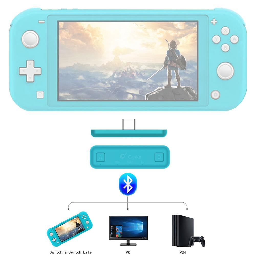 New Hot GuliKit NS07 Route Air Wireless Audio Adapter Or Type-C Transmitter For Nintendo Switch, Switch Lite, PS4 And PC