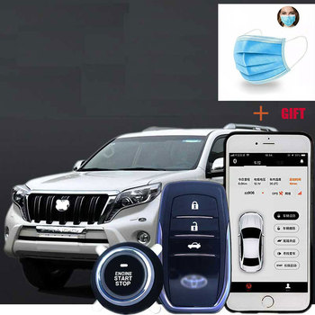 PKE Remote Start For Car Keyless Entry Engine Alarm System with Button Anti-theft Smartphone Starter Stop Automatic Trunk Open pke car alarm system push button start remote start engine with password keyboard auto lock