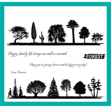 ZATBWS Protect the forest Clear Stamps For DIY Scrapbooking/Card Making/Album Decorative Rubber Stamp Crafts azsg creek in the forest clear stamps for diy scrapbooking card making album decorative rubber stamp crafts