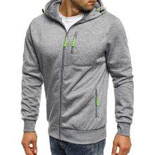 Novos hoodies masculinos casual design de esportes primavera e outono inverno de manga comprida cardigan com capuz moletom masculino