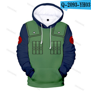 Image 4 - Naruto Hoodies Uchiha Syaringan Hooded Boys Uzumaki Naruto Pullover Men/women Cartoon Printed Clothes