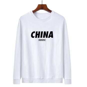 WWKK China red FANTASTICI Printed Sweatshirts Male Autumn Winter 2020 New Fashion O-Neck Pullover Men Harajuku Men's Sweatshirt 1