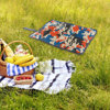 Oxford Cloth Outdoor Sit Mat Folding Seat Pad Proof Insulated Seat Mat Sitting Cushion Prevent Dirty For Picnic Camping