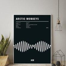 Affiches et imprimés de singes de l'arc noir AM album de musique, affiche de calligraphie murale, photos d'art, peinture sur toile pour la décoration de la maison