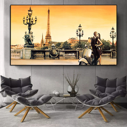 Beautiful Street View Of The City Pictures Canvas Panting Landscape Posters And Prints Wall Art For Living Room Home Decoration