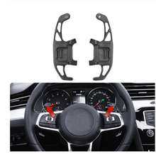 цена на 2Pcs Car Steering Wheel Paddle Shift Extend Shifter Auto Interior For VW GOLF GTI R GTD GTE MK7 7 For POLO GTI 2016 Scirocco