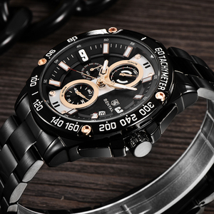 Image 3 - BENYAR męskie zegarki kwarcowe Top marka luksusowy zegarek człowiek stal wodoodporny Sport mężczyzna zegarek chronograf Relogio Masculino 2019
