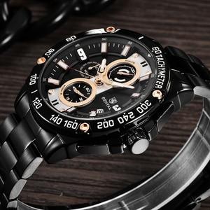 Image 3 - Benyarクォーツメンズ腕時計トップブランドの高級時計男性鋼防水スポーツメンズ腕時計クロノグラフレロジオmasculino 2019
