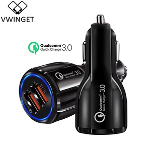 Car Charger Usb Quick Charge 3.0 For Mobile Phone Dual Usb Car Charger Qc 3.0 Fast Charging Adapter Mini Usb Car Charger(China)