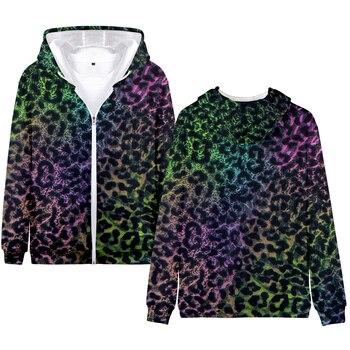 Fashionable Personality Leopard Hoodie Ladies 3D Zipper Sweatshirt Latest Design Zipper Hoodie Quality Comfortable Street Casual цена 2017