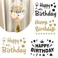 Просто наклейка! 1 шт. золотистый и черный наклейка для воздушного шара День рождения Декор DIY на день рождения наклейка для воздушного шара s...