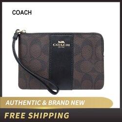 Coach PVC Corner Zip Wristlet Wallet F58035