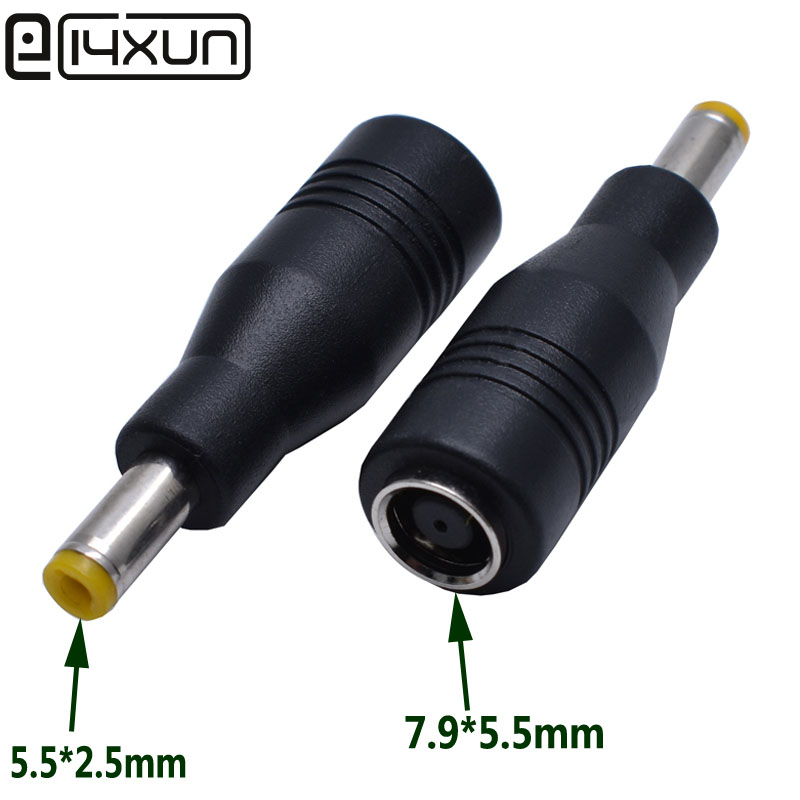 1pcs 7.9 x 5.5mm Female to <font><b>5.5</b></font> x 2.5mm Male <font><b>Plug</b></font> Converter <font><b>Dc</b></font> <font><b>Plug</b></font> Power Adapter Charger Connector Tip for Asus Lenovo Laptop image