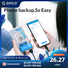 ORICO Backuper One-touch Backup/Delete Backup for Phone Photo Music Movie Work Support  4TB Capacity 5Gbps SATA TO USB C Port