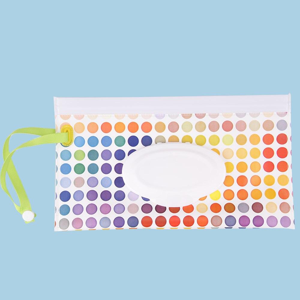 Экологически чистые влажные салфетки, сумка-раскладушка, косметичка, легко носить с собой, на застежке, салфетки, контейнер, клатч и чистые салфетки, чехол для переноски - Цвет: jianbyd