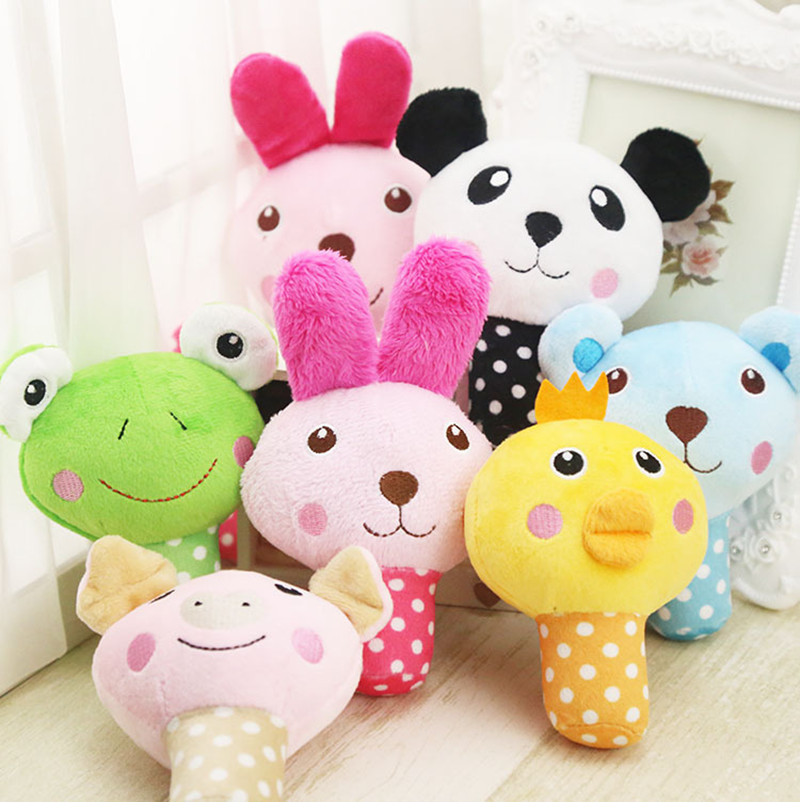 Cute Plush Puzzle Stuffed Squeaking Pet Toy Fruit Animals Cartoon Dog Toys for Dogs Cat Chew Squeaker Squeaky Toy