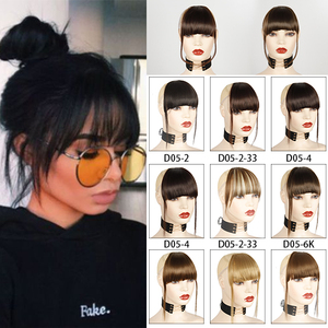 Azqueen hair Clip In Hair Bangs Hairpiece Accessories Synthetic Fake Bangs Hair bangs pure bangs hair extension synthetic wig