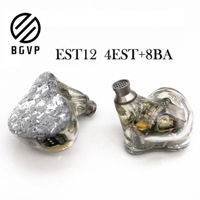 BGVP ES12 4EST + 8BA электростатические сбалансированные наушники Hifi музыка Moniotor personalizables наушники аудиофилы музыкальный