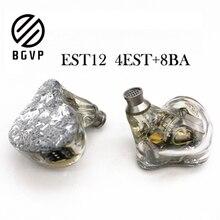 BGVP auriculares para música dispositivo de audio equilibrado, electrostático ES12 4EST + 8BA, para música Hifi
