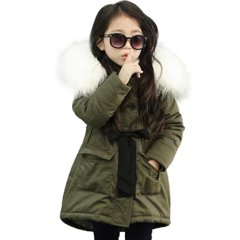 אופנה ילדי מעילי בני בנות סתיו החורף מעובה סלעית כותנה מרופדת למטה מעיל ילדים ארוכים מוצרי הלבשה תחתונה מעיילים