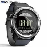 LOKMAT Sport inteligenty zegarek z krokomierzem 5ATM wodoodporny zegar pogody w czasie rzeczywistym cyfrowy mężczyzna smartwatch bluetooth dla IOS i Android