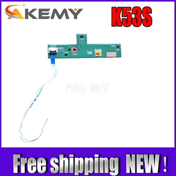 New!!! with cable Power Switch ON OFF Button Board For Asus A53S X53S K53S K53Sv K53E K53SD K53SJ tested well kingsener 10 8v 5200mah a32 k53 battery for asus k43 k43e k43j k43s k43sv k53 k53e k53f k53j k53s k53sv a43 a53s a53sv a41 k53