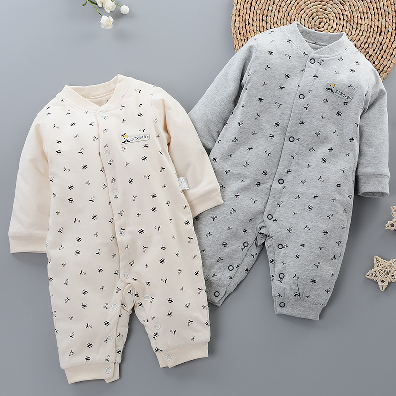 Baby Onesie Pure Cotton Thick Winter Newborns Clothes 0-1-Year-Old Men And Women Child Baby Cotton Coat Romper Crawling Clothes