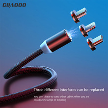 Buy CBAOOO magnetic cable 1m 2mMicro USB data cable C cable for lightning Android mobile phone fast charging magnet wire dust plug m directly from merchant!