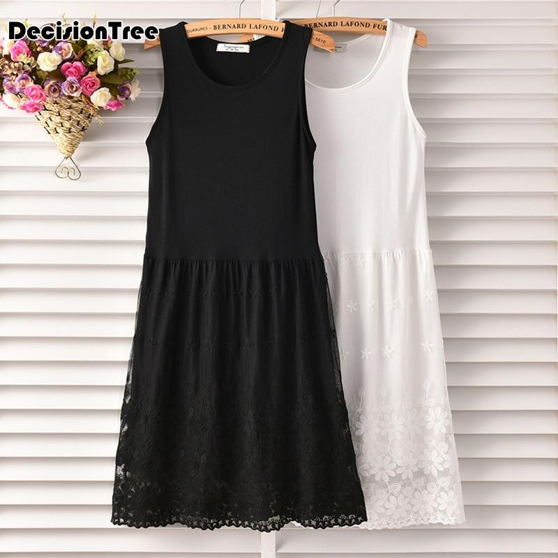 2019 sexy black and white lace women 39 s full slips sexy modal ladies full slips Female Petticoat Slip Woman in Full Slips from Underwear amp Sleepwears