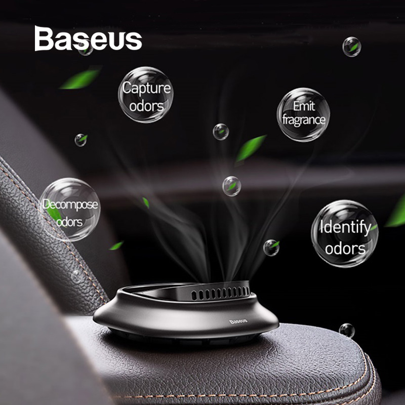 Baseus Mini Alloy Car Air Freshener Natural Perfume Fragrance Holder Air Outlet Aromatherapy Solid Perfume Diffuser