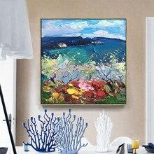 KOWELL, ручная роспись, абстрактные пейзажи, масляная живопись на холсте, художественные масляные краски в качестве подарка, домашний декор, украшение для стен в гостиной