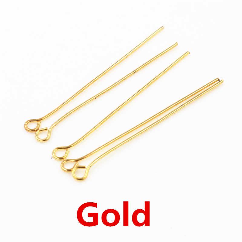 200 Stks/zak 16 20 25 30 35 40 45 50 Mm Eye Head Pins Klassieke 7 Kleuren Plated Eye Pins voor Sieraden Bevindingen Maken Diy Supplies