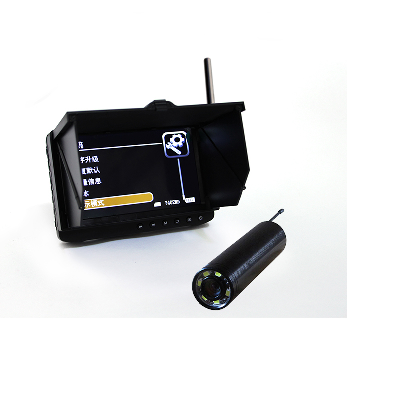 Li-battery powered portable 2.4Ghz wireless chimney  inspection camera with 5 in monitor for better sweeping