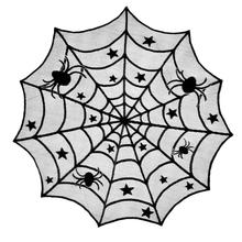 new hot sale fashion Spiders Lace Mesh Shape Tablecloth Cover Halloween Home Dining Room Table Decor create atmosphere