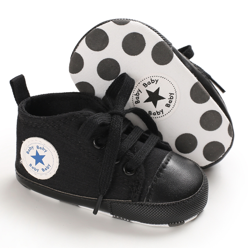 New 19 Multiple colors Classic Canvas Baby Shoes Newborn Sports Sneakers First Walkers Kids Booties Children Moccasins shoes | Happy Baby Mama