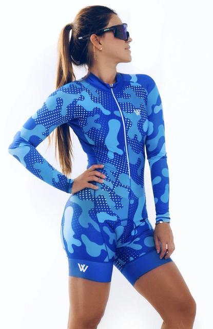Triathlon skinsuit verão esportes das mulheres manga longa conjunto camisa de ciclismo macacão roupa feminina uniforme 2020 1