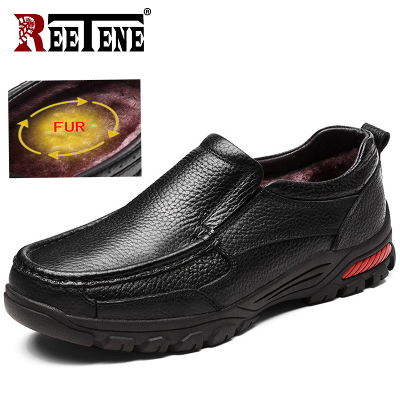 REETENE haute qualité en cuir véritable mode hiver hommes bottes tendance britannique hommes chaussures rétro hommes bottes hommes bottines