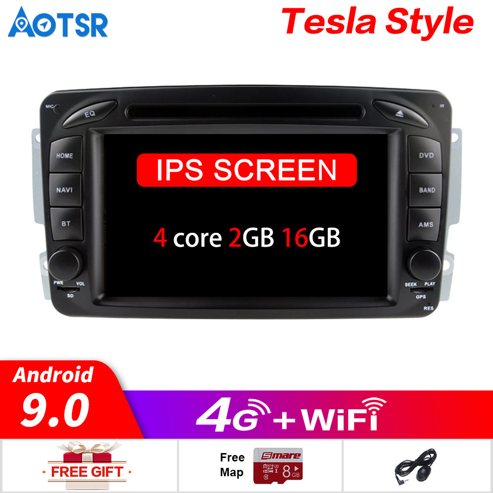 7 Inch Android 9.0 Car GPS <font><b>navi</b></font> multimedia For Mercedes <font><b>Benz</b></font> <font><b>W203</b></font> W208 W209 W210 W463 W163 W168 no DVD player tape video <font><b>radio</b></font> image