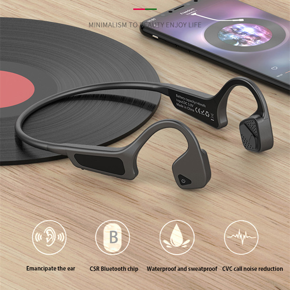 High Quality Bone Conduction Bluetooth Headset Wireless 5.0 Headphones Sport Travel Cycling Earbuds for xiaomi iPhone Earphone