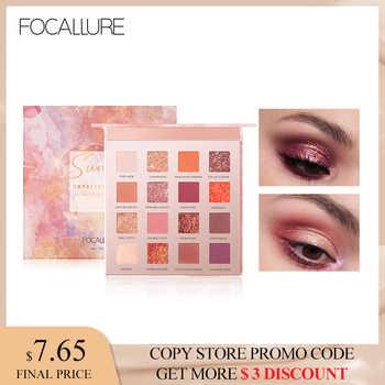 FOCALLURE New Sunrise Eye Shadow Palette Glitter Matte Pigment Eyeshadow Loose Powder Luxury Quality shade palette